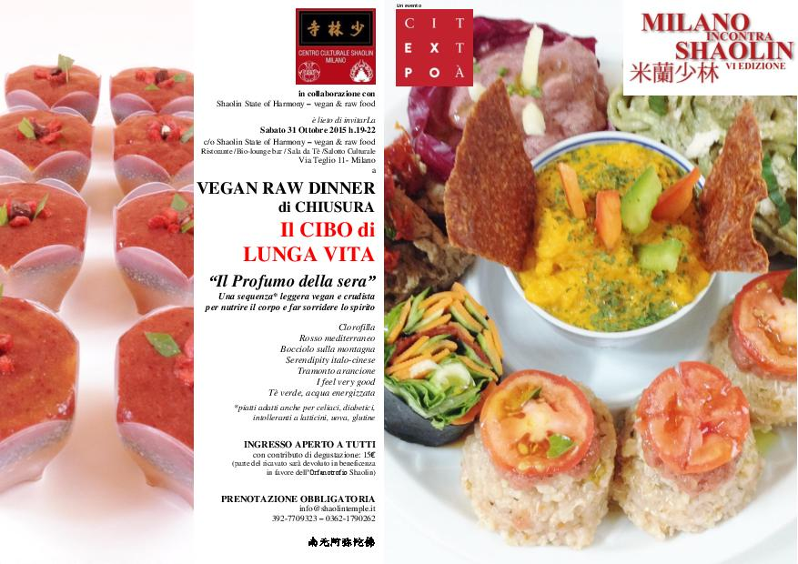 VEGAN RAW DINNER CHIUSURA - MiS 2015