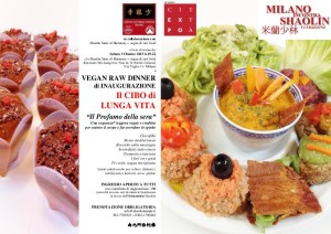 VEGAN RAW DINNER INAUGURAZIONE - MiS 2015