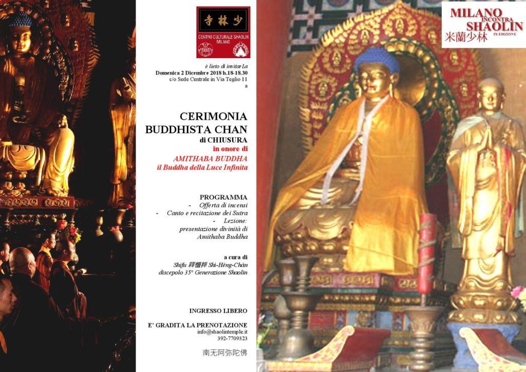 CERIMONIA BUDDHISTA CHAN -CHIUSURA MiS 2018