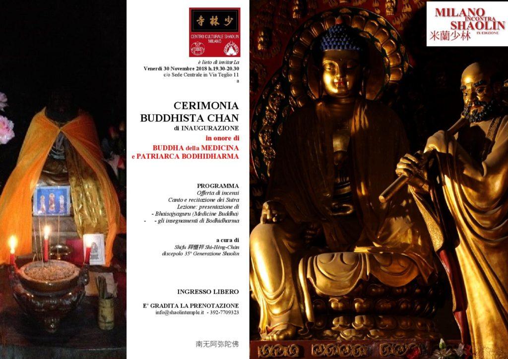 CERIMONIA BUDDHISTA CHAN -INAUGURAZIONE MiS 2018