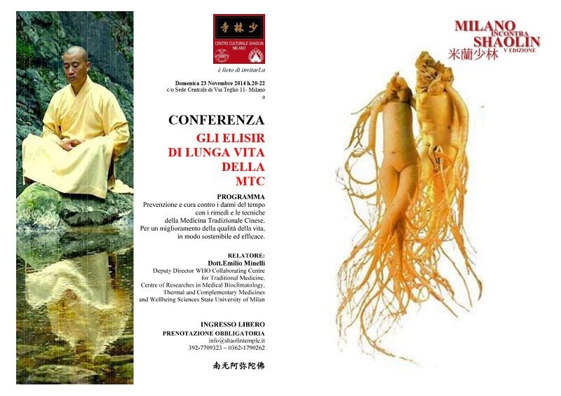 CONFERENZA - GLI ELISIR DI LUNGA VITA DELLA MTC - MiS 2014