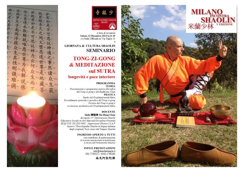 SEMINARIO-SHAOLIN TONG-ZI-GONG & SUTRA - MiS 2014
