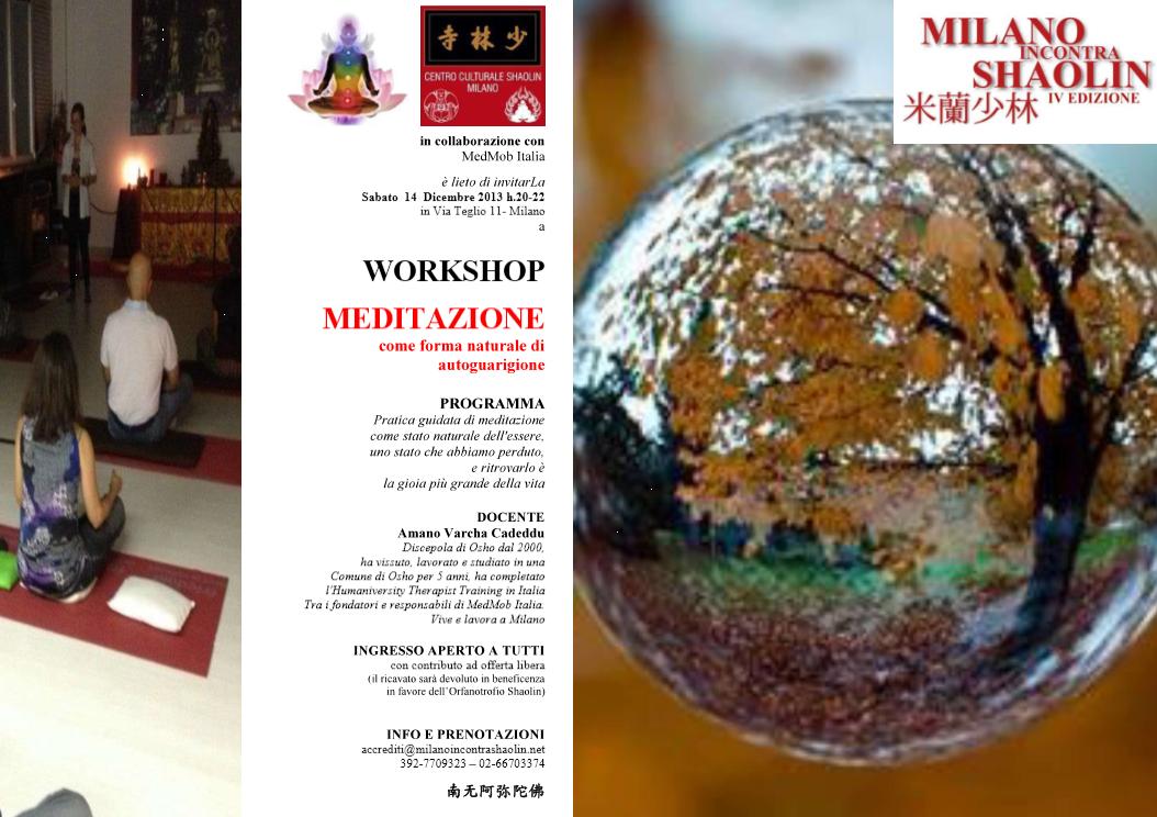 WORKSHOP- Meditazione MedMob Italia