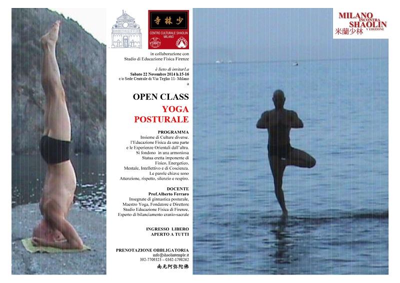 OPEN CLASS YOGA POSTURALE + MiS 2014