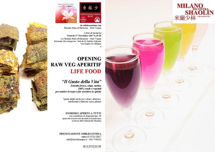 OPENING RAW VEG - Opening Aperitif - INAUGURAZIONE MIS17